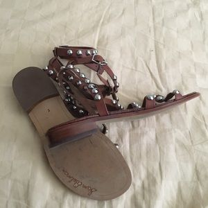 Sam Edelman Shoes - Sam Edelman Bohemian studded brown ankle sandals